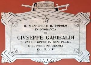 Lapide Garibaldi - palazzo Torre - C. Ferlauto IBC