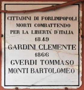 Lapide Guerre indip. - palazzo Torre - C. Ferlauto IBC